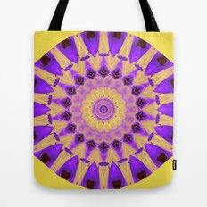 Bold Purple and Yellow Mandala Tote Bag