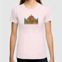 CROWN Womens Fitted Tee Light Pink SMALL