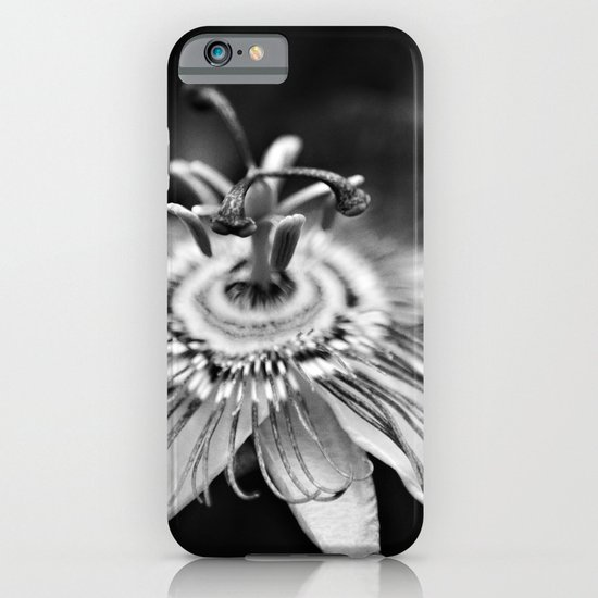 Black and White Passion Flower iPhone & iPod Case