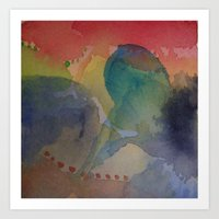 Watercolor Abstract Mini Series #3 Art Print