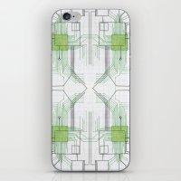 Circuit Board Green Repe… iPhone & iPod Skin