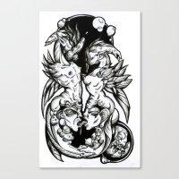 Sea-Horses Canvas Print