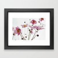 Pink Wild Flowers Framed Art Print