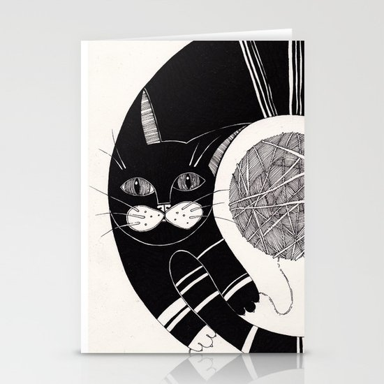 cats life: playing Stationery Card