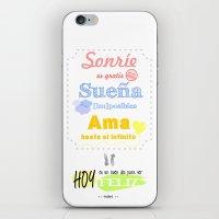 {ESP} SONRÍE · SUEÑA … iPhone & iPod Skin