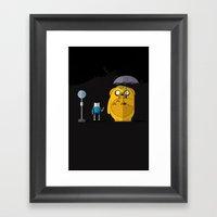 Adventure Time Totoro Framed Art Print