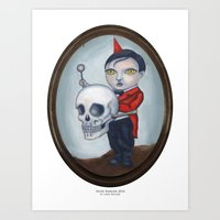 Head Banger - Carnival Sideshow Freak Art Print