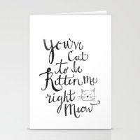Right Meow Stationery Cards