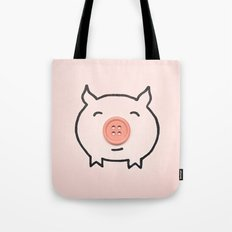 Button Pig Tote Bag