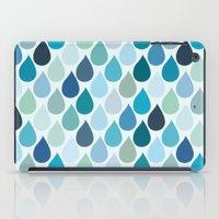 Blue rain iPad Case