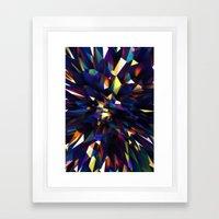 Low Iris Poly Framed Art Print