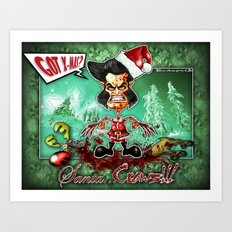 Santa...Claws! Art Print