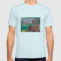 Big Brother Coffee Shop Mens Fitted Tee Light Blue SMALL