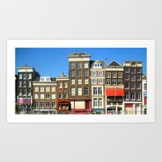 Line Up in Amsterdam. Art Print