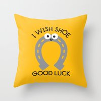 Straight From The Horse�… Throw Pillow