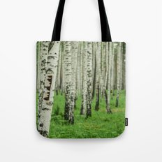 Forrest of white trees Tote Bag