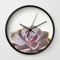 Purple Succulent Wall Clock