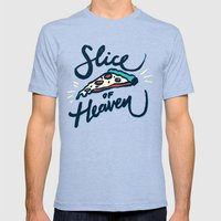 Slice of Heaven 3/3 Mens Fitted Tee Tri-Blue SMALL