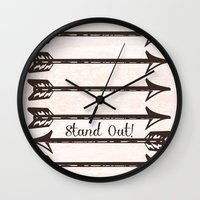 Stand Out! Wall Clock