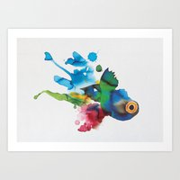 COLORFUL FISH 2 Art Print