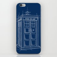 Plan Tardis iPhone & iPod Skin