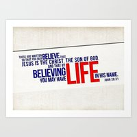 Life in His Name Art Print