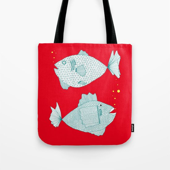 Two Old Fish Tote Bag