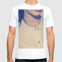 BLOUSE Mens Fitted Tee White SMALL