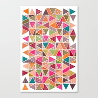 Roof Colorful Canvas Print