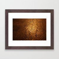 paving stone gold Framed Art Print