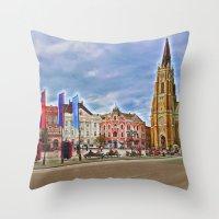 Novi Sad Serbia Throw Pillow