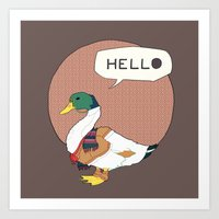 Mr duck Art Print