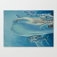 Whale Shark and Friends Canvas Print