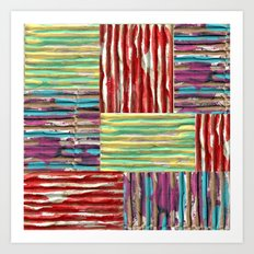 Painterly Corrugated Cardboard Art Print