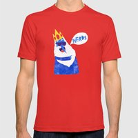 Ice King looks Crazy Seeyak! Collage Mens Fitted Tee Red SMALL