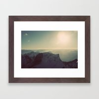 Mountain Germany Alps Co… Framed Art Print