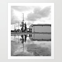 Art Print featuring Diner reflected by Vorona Photography