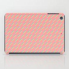 80's Pastel Stripes on Pink  /// www.pencilmeinstationery.com iPad Case
