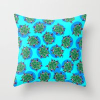 GermFlower Wallpaper (Chills) Throw Pillow
