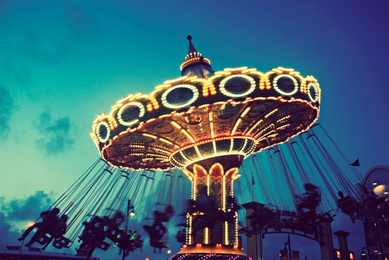 Blue Hour at the Carnival Art Print