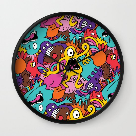 More Monsters, More Patterns Wall Clock
