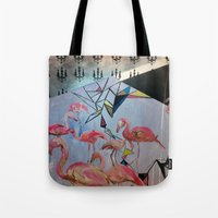 Flamingo Teaparty Tote Bag