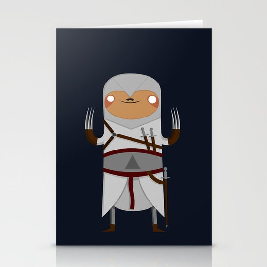 Assassin Sloth Stationery Card