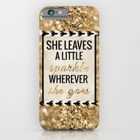 iPhone Cases featuring She Leaves a Little Sparkle Wherever She Goes by Tangerine-Tane