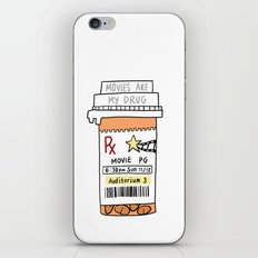 Movies are my drug iPhone & iPod Skin