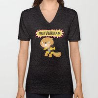 The Incredible Beaverman Unisex V-Neck