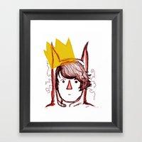I'LL EAT YOU UP! Framed Art Print