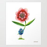 Red Wonder Flower Art Print