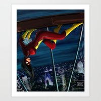 SpiderWoman Art Print