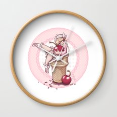 With A Cherry On Top! Wall Clock